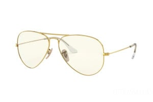 Occhiali da Sole Ray-Ban Aviator large metal Everglasses Clear Evolve RB 3025 (001/5F)
