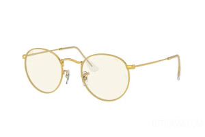 Occhiali da Sole Ray-Ban Round metal Everglasses Clear Evolve RB 3447 (9196BL)