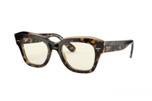 Occhiali da Sole Ray-Ban State street Everglasses Clear RB 2186 (1292BL)
