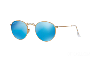 Occhiale da Sole Ray Ban RB 3447 Round Metal Flash Lenses (112/4L)