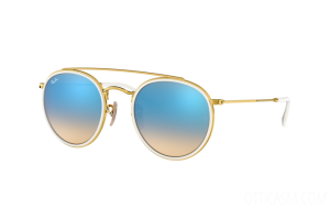Occhiale da Sole Ray Ban Round Double Bridge RB 3647N (001/4O)