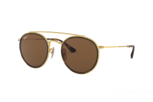 Occhiale da Sole Ray Ban Round Double Bridge RB 3647N (001/57)