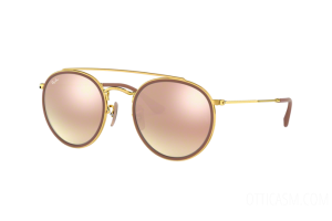 Occhiale da Sole Ray Ban Round Double Bridge RB 3647N (001/7O)