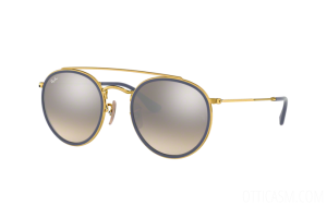 Occhiale da Sole Ray Ban Round Double Bridge RB 3647N (001/9U)