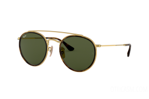 Sunglasses Ray Ban Round Double Bridge RB 3647N (001)