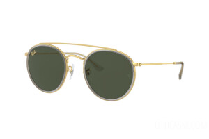 Occhiali da Sole Ray-Ban Round Double Bridge Legend Gold RB 3647N (921031)