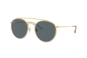 Occhiali da Sole Ray-Ban Round Double Bridge Legend Gold RB 3647N (9210R5)