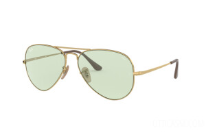 Occhiali da Sole Ray Ban Aviator metal ii Solid Evolve RB 3689 (001/T1)