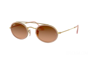 Sonnenbrille Ray Ban Oval Double Bridge RB 3847N (9125A5)