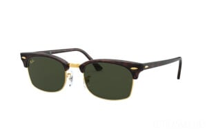 Occhiali da Sole Ray-Ban Clubmaster square Legend Gold RB 3916 (130431)