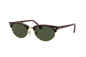 Occhiali da Sole Ray-Ban Clubmaster oval Legend Gold RB 3946 (130431)