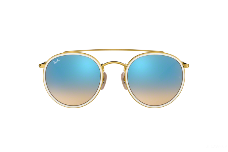 Sunglasses Unisex Ray-Ban Round Double Bridge RB 3647N 001/4O