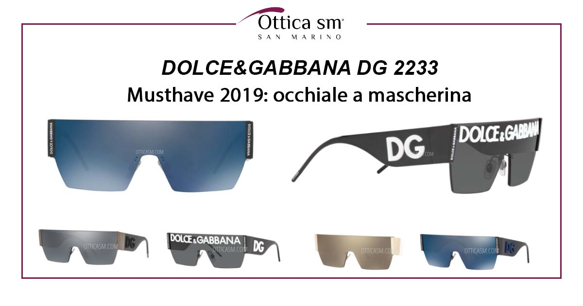 I Trend dell'estate: Dolce & Gabbana DG 2233