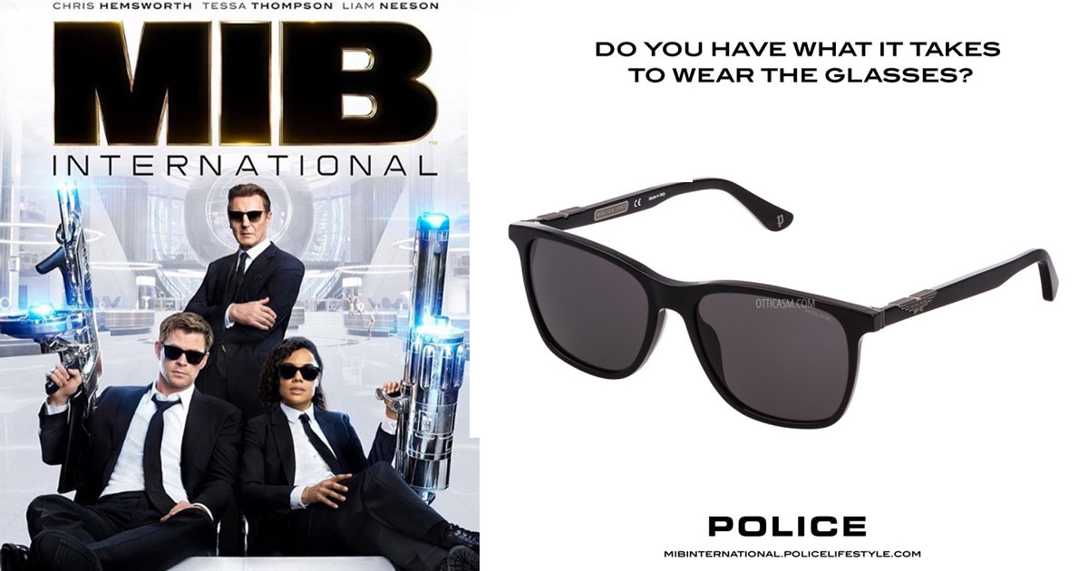 Police SPL872 (0700): scopri gli occhiali da sole di Men in Black International.