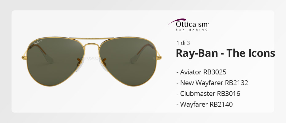 [Ray-Ban Icons #1] Gli occhiali da sole must have