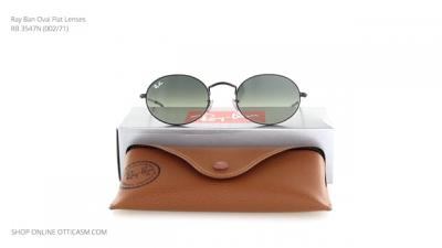 Ray Ban Oval Flat Lenses RB 3547N (002/71)