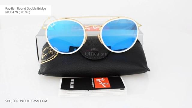 Ray-Ban Round Double Bridge RB3647N (001/40)