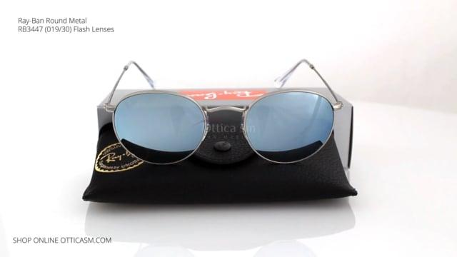 Ray-Ban Round Metal Flash Lenses RB 3447 (019/30)