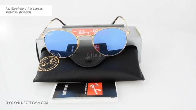 Round Flat 3447n0019o Ban Ray De Lunettes Soleil Lenses Rb 0vwmnNO8