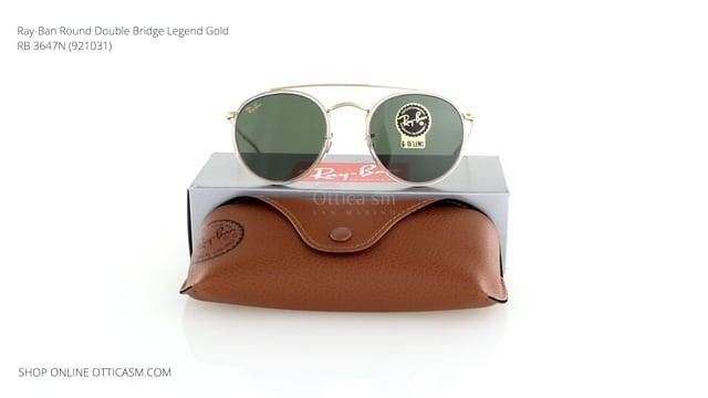 Ray-Ban Round Double Bridge Legend Gold RB 3647N (921031)